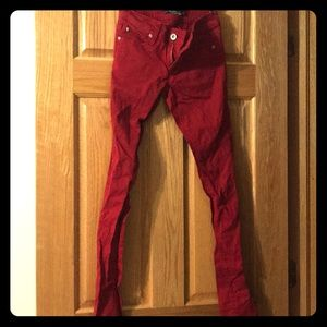 Lovesick skinny jeans 1 hot topic red punk